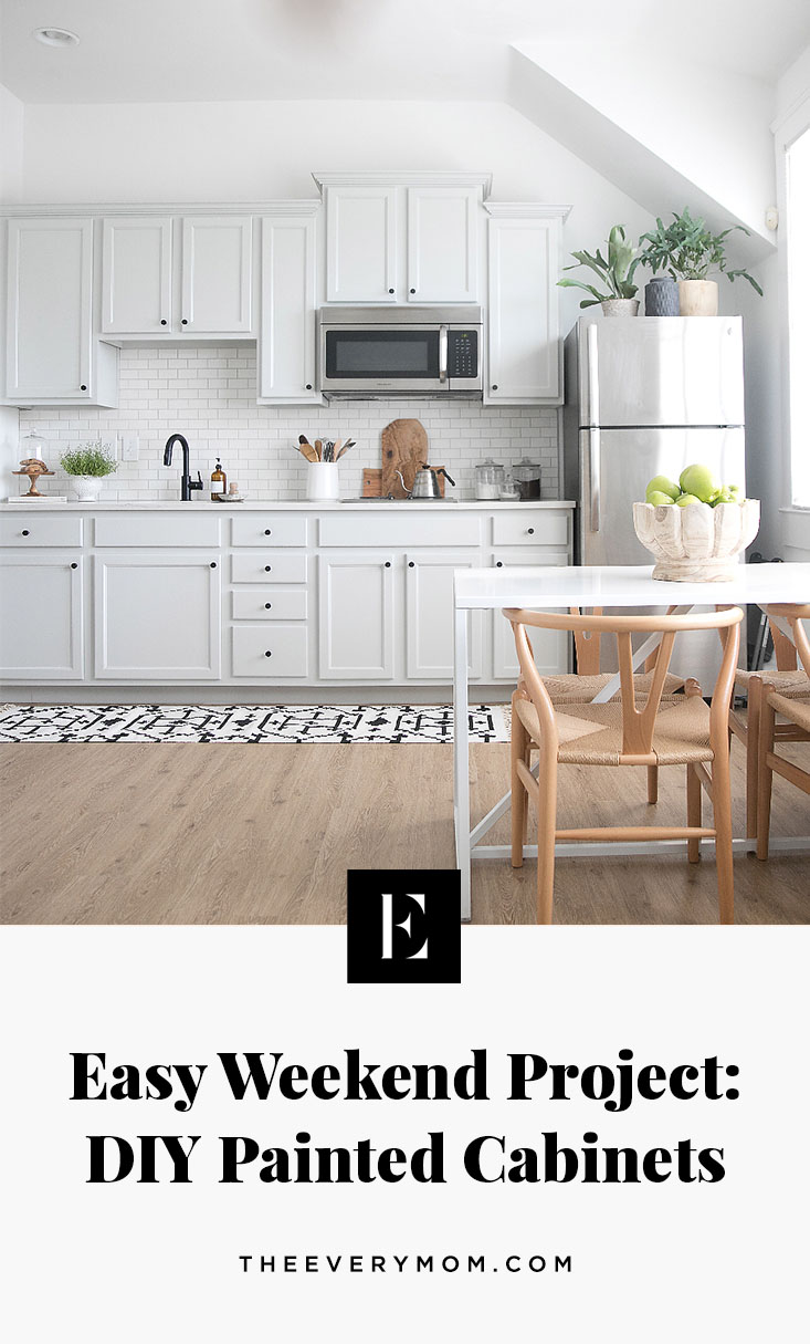 Easy Weekend Project: DIY Painted Cabinets - The Everymom
