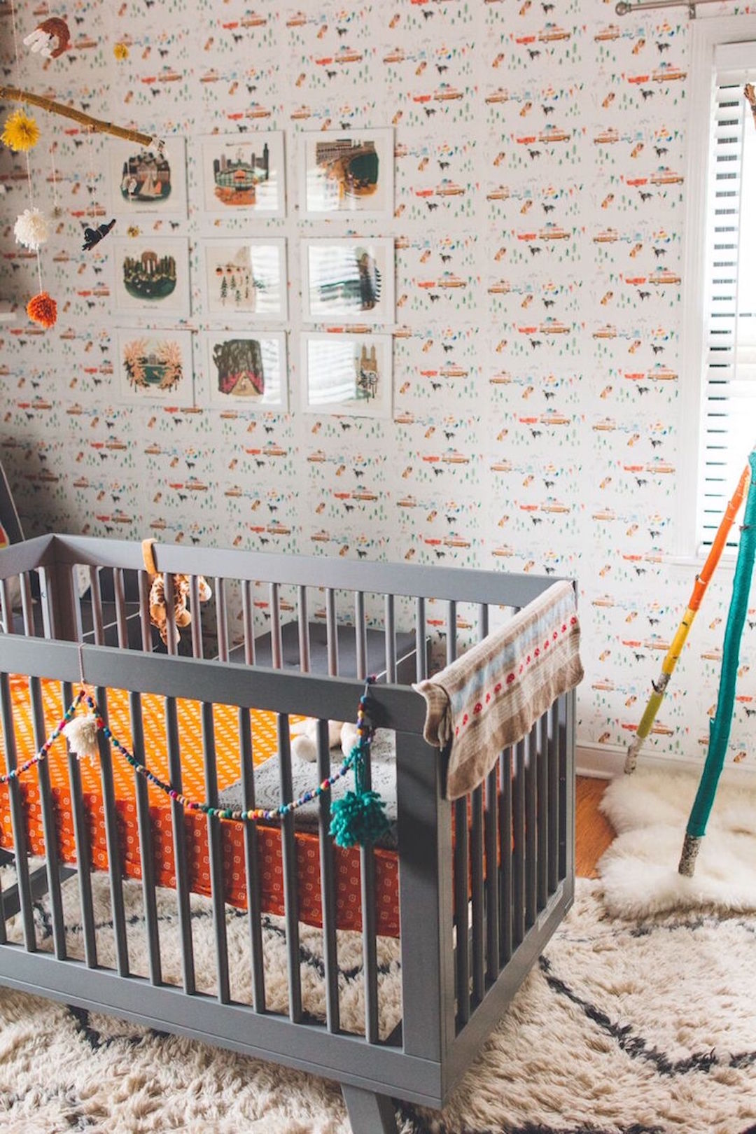 At The End Of Hall April Mueller S White And Dark Wood Home Lies A Wes Anderson Wonderland Nursery Her Three Year Old Daughter Windsor