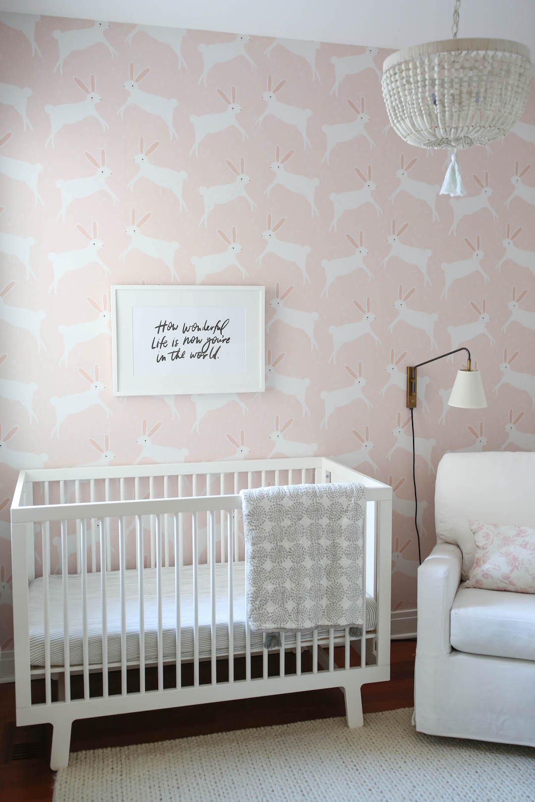 Were Obsessed With This Nurserys Statement Wallpaper The Everymom